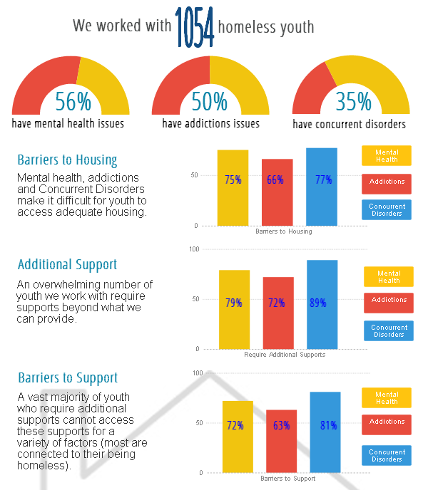 section of infographic on youth homelessness