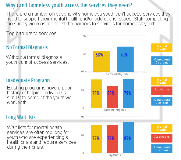 Section of an infographic on homeless youth