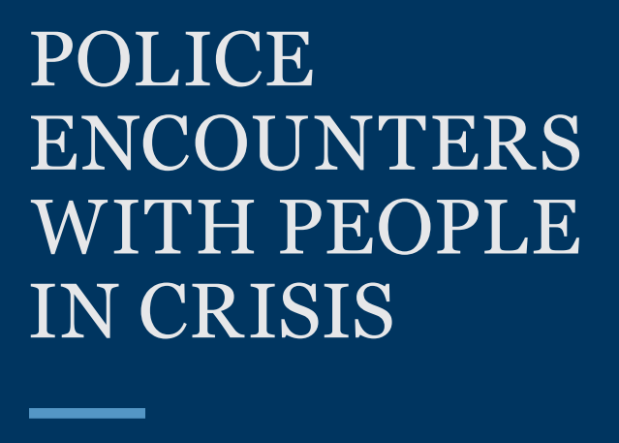 Polic encounters with people in crisis - text from report cover