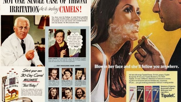 Compilation of old cigarette ads
