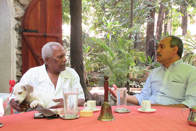 (L to R) Ati Max Beauvoir and Akwatu Khenti