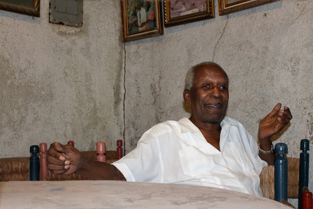 Late Ati Max Beauvoir, Supreme Chief of Haitian Vodou (right)