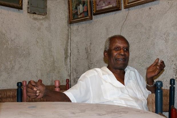 Late Ati Max Beauvoir, Supreme Chief of Haitian Vodou (right)